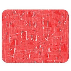 Red pattern Double Sided Flano Blanket (Medium)