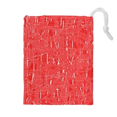 Red pattern Drawstring Pouches (Extra Large)