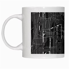 Gray Pattern White Mugs