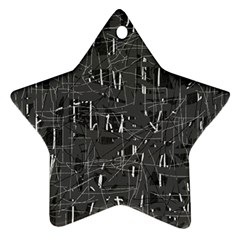 Gray pattern Star Ornament (Two Sides)