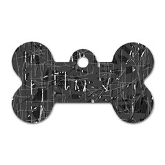 Gray pattern Dog Tag Bone (Two Sides)