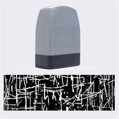 Gray pattern Name Stamps