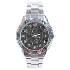 Gray pattern Stainless Steel Analogue Watch