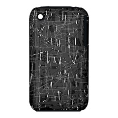 Gray pattern Apple iPhone 3G/3GS Hardshell Case (PC+Silicone)