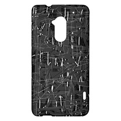 Gray pattern HTC One Max (T6) Hardshell Case