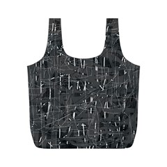 Gray pattern Full Print Recycle Bags (M)