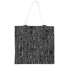 Gray pattern Grocery Light Tote Bag