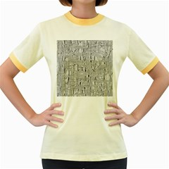 Gray pattern Women s Fitted Ringer T-Shirts
