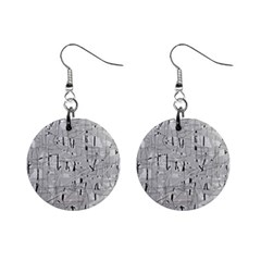 Gray pattern Mini Button Earrings