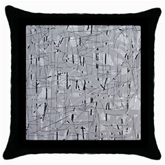 Gray pattern Throw Pillow Case (Black)