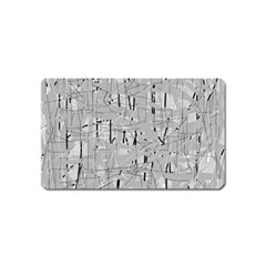 Gray pattern Magnet (Name Card)