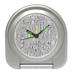 Gray pattern Travel Alarm Clocks