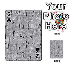 Gray pattern Playing Cards 54 Designs