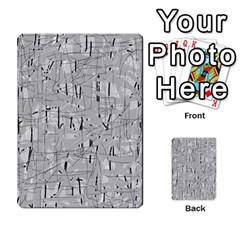 Gray pattern Multi-purpose Cards (Rectangle)