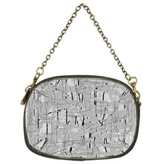 Gray pattern Chain Purses (One Side)