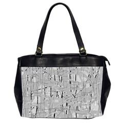 Gray pattern Office Handbags (2 Sides)