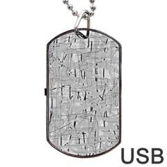 Gray pattern Dog Tag USB Flash (Two Sides)