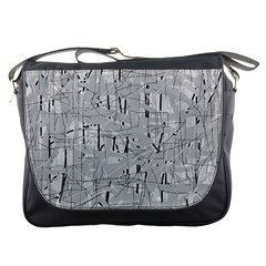 Gray pattern Messenger Bags