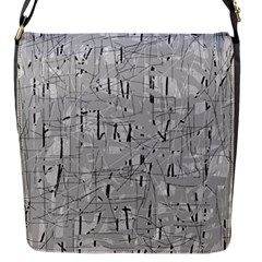 Gray pattern Flap Messenger Bag (S)