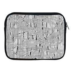Gray pattern Apple iPad 2/3/4 Zipper Cases