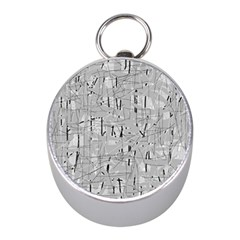 Gray pattern Mini Silver Compasses