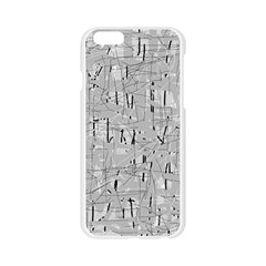 Gray pattern Apple Seamless iPhone 6/6S Case (Transparent)