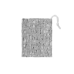 Gray pattern Drawstring Pouches (XS)