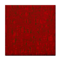 Red Pattern Tile Coasters