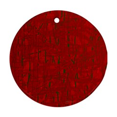 Red pattern Ornament (Round)
