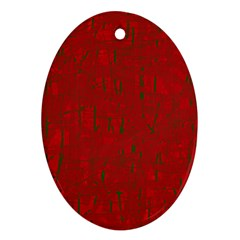 Red pattern Ornament (Oval)