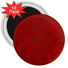 Red pattern 3  Magnets (10 pack)