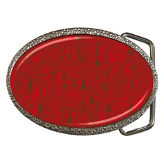 Red pattern Belt Buckles