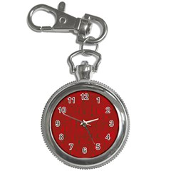 Red pattern Key Chain Watches
