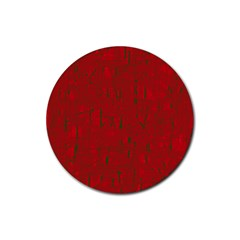 Red Pattern Rubber Coaster (round)