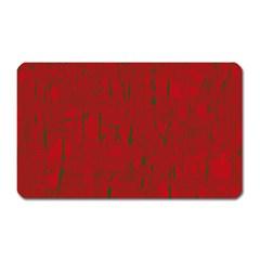 Red pattern Magnet (Rectangular)