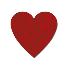 Red pattern Heart Magnet
