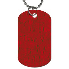 Red pattern Dog Tag (One Side)