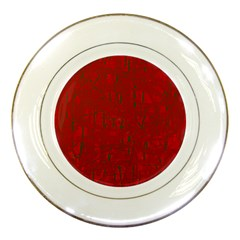 Red pattern Porcelain Plates