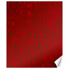 Red pattern Canvas 8  x 10