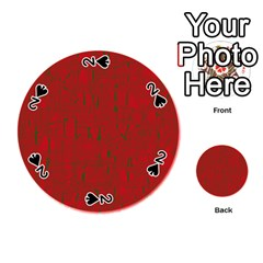 Red pattern Playing Cards 54 (Round)