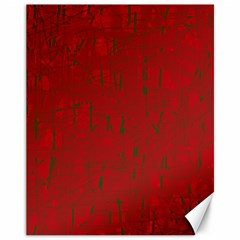 Red pattern Canvas 11  x 14