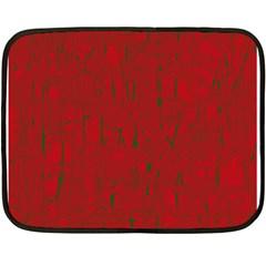 Red pattern Double Sided Fleece Blanket (Mini)