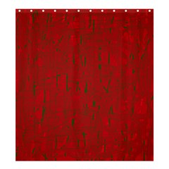 Red pattern Shower Curtain 66  x 72  (Large)