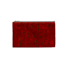 Red pattern Cosmetic Bag (Small)