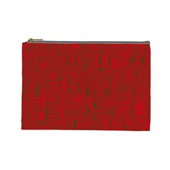 Red pattern Cosmetic Bag (Large)