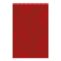 Red pattern Shower Curtain 48  x 72  (Small)