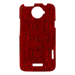 Red pattern HTC One X Hardshell Case