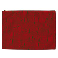 Red pattern Cosmetic Bag (XXL)