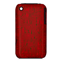 Red pattern Apple iPhone 3G/3GS Hardshell Case (PC+Silicone)
