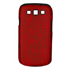 Red pattern Samsung Galaxy S III Classic Hardshell Case (PC+Silicone)